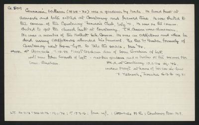 Macdonald Dictionary Record: William Gunnion