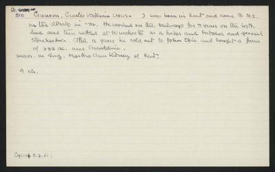 Macdonald Dictionary Record: William Charles Gunson