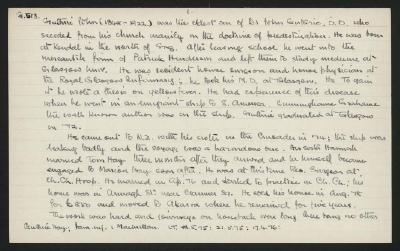Macdonald Dictionary Record: John Guthrie