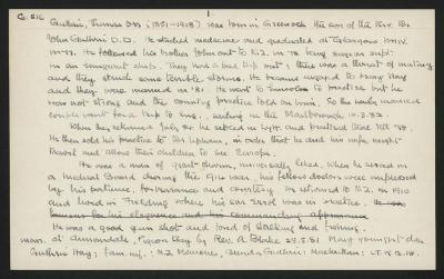 Macdonald Dictionary Record: Thomas Orr Guthrie