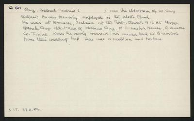 Macdonald Dictionary Record: Frederick Andrew Guy