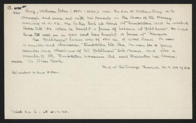 Macdonald Dictionary Record: William John Guy