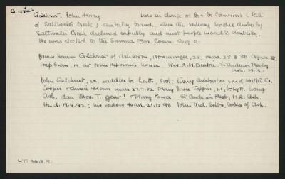 Macdonald Dictionary Record: John Henry Gilchrist
