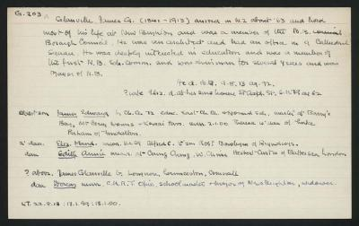 Macdonald Dictionary Record: James G Glanville