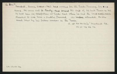 Macdonald Dictionary Record: Enoch Goodall