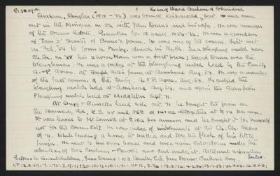 Macdonald Dictionary Record: Douglas Graham