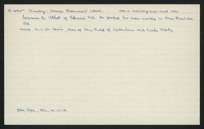 Macdonald Dictionary Record: George Beaumont Gundry
