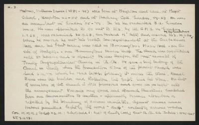 Macdonald Dictionary Record: William James Habens