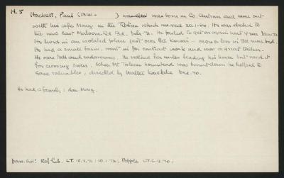 Macdonald Dictionary Record: Paul Hackett