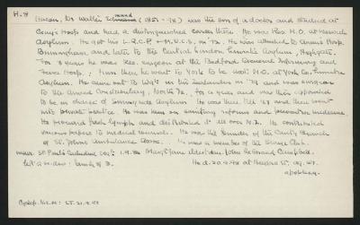 Macdonald Dictionary Record: Walter Edmund Hacon