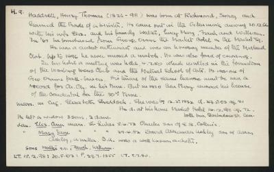 Macdonald Dictionary Record: Henry Thomas Haddrell