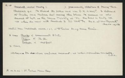 Macdonald Dictionary Record: Walter Henry Haddrell