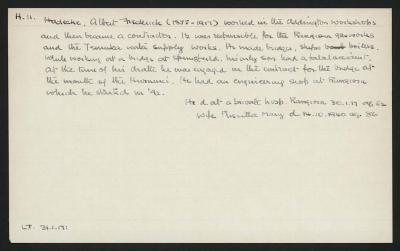 Macdonald Dictionary Record: Albert Frederick Hadecke