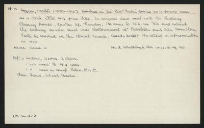 Macdonald Dictionary Record: Walter Haden