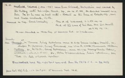 Macdonald Dictionary Record: Edward Hadfield