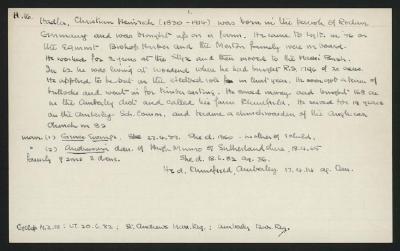Macdonald Dictionary Record: Christian Heinrich Hadler