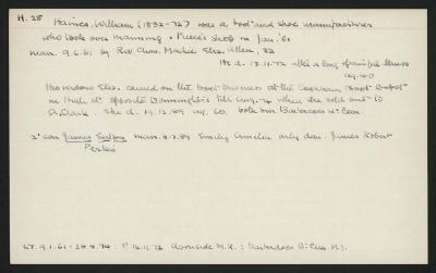 Macdonald Dictionary Record: William Haines