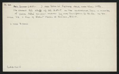 Macdonald Dictionary Record: James Hair