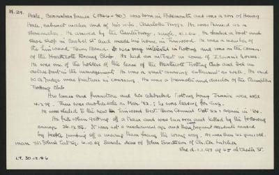 Macdonald Dictionary Record: Barnabas James Hale