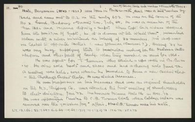 Macdonald Dictionary Record: Benjamin Hale