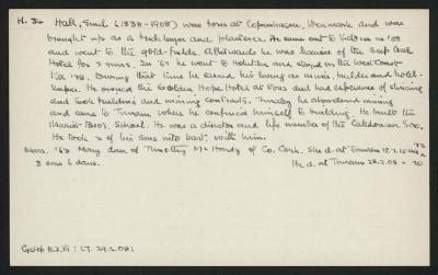 Macdonald Dictionary Record: Emil Hall
