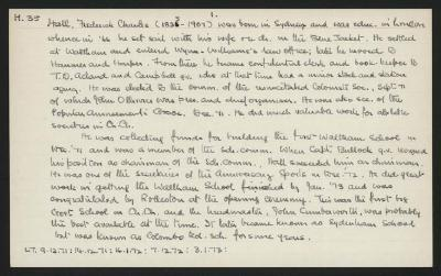 Macdonald Dictionary Record: Frederick Charles Hall