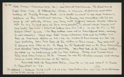 Macdonald Dictionary Record: George Williamson Hall