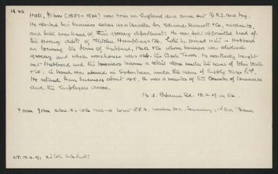 Macdonald Dictionary Record: John Hall