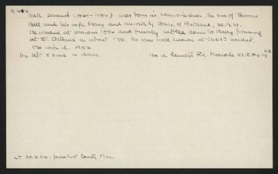 Macdonald Dictionary Record: Samuel Hall
