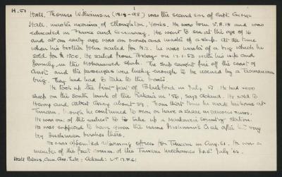 Macdonald Dictionary Record: Thomas Williamson Hall