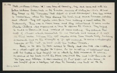 Macdonald Dictionary Record: William Hall