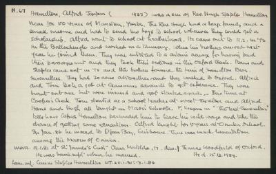 Macdonald Dictionary Record: Alfred Jaspar Hamilton
