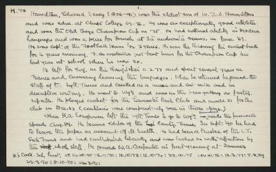 Macdonald Dictionary Record: Edward Vesey Hamilton
