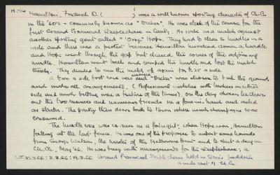 Macdonald Dictionary Record: Frederick D Hamilton