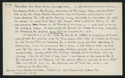 Macdonald Dictionary Record: Hugh Henry Scrivenor Hamilton