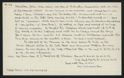 Macdonald Dictionary Record: John Hamilton
