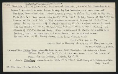 Macdonald Dictionary Record: John Joseph Montgomery Hamilton