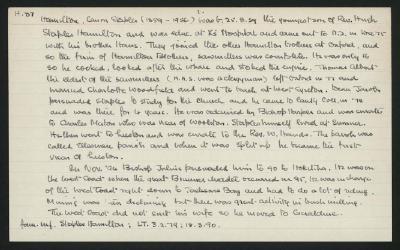 Macdonald Dictionary Record: Canon Staples Hamilton