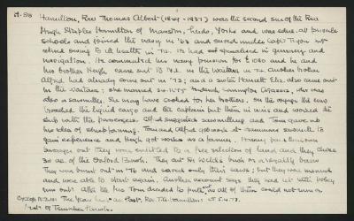 Macdonald Dictionary Record: Thomas Albert Hamilton