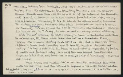 Macdonald Dictionary Record: William John Warburton Hamilton