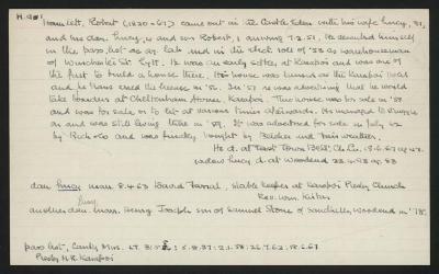 Macdonald Dictionary Record: Robert Hamlett