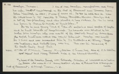 Macdonald Dictionary Record: Thomas Hamlyn