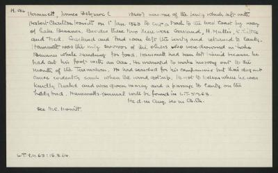 Macdonald Dictionary Record: James Belgrave Hammett