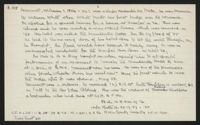 Macdonald Dictionary Record: William Hammett