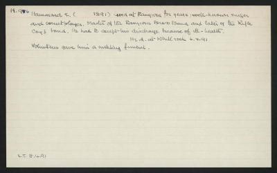 Macdonald Dictionary Record: E Hammond