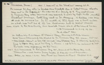Macdonald Dictionary Record: James Hammond