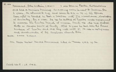 Macdonald Dictionary Record: John William Hammond