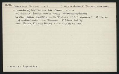 Macdonald Dictionary Record: Samuel Hammond