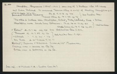 Macdonald Dictionary Record: Benjamin Hampton