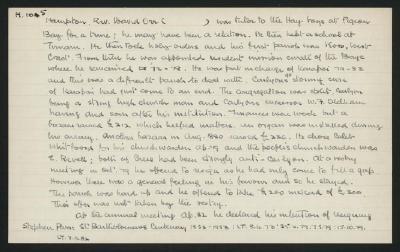 Macdonald Dictionary Record: David Orr Hampton
